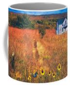 Autumn Abandoned House In The Prairie Coffee Mug