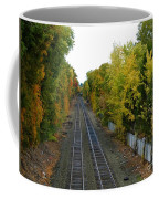 Autumn Along The Tracks Coffee Mug