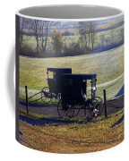 Autumn Amish Horse Buggy Coffee Mug
