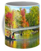 Autumn At Bow Bridge Central Park Coffee Mug