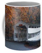 Autumn At Knox Covered Bridge In Valley Forge Coffee Mug by Bill Cannon