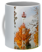 Autumn At The Airport Light Tower Coffee Mug