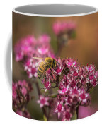 Autumn Bee On Flowers Coffee Mug