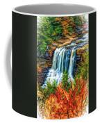 Autumn Blackwater Falls - Paint 3 Coffee Mug