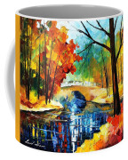 Autumn Calm 2 - Palette Knife Oil Painting On Canvas By Leonid Afremov Coffee Mug