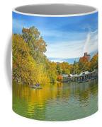 Autumn Central Park Lake And Boathouse Coffee Mug