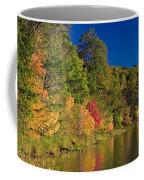 Autumn Color Trees Along Beauty Lake Coffee Mug