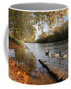 Autumn Colours At Sunbury On Thames Surrey Uk Coffee Mug