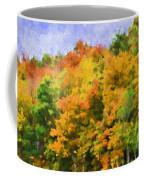Autumn Country On A Hillside II - Digital Paint Coffee Mug
