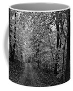 Autumn Drive Bnw Coffee Mug