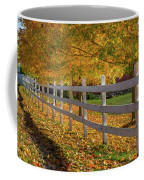 Autumn Fence Coffee Mug