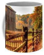 Autumn Fence Posts Scenic Coffee Mug