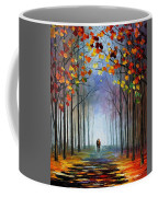 Autumn Fog 4 - Palette Knife Oil Painting On Canvas By Leonid Afremov Coffee Mug