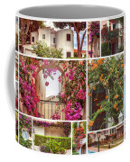 autumn houses,  gardens and balconies in Portugal Coffee Mug by Ariadna De Raadt