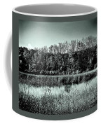 Autumn In The Wetlands - Black And White Coffee Mug
