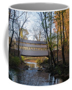 Autumn In Valley Forge - Knox Covered Bridge Coffee Mug