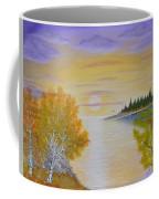Autumn Lake Sunset  Coffee Mug