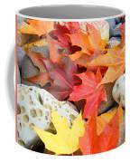 Autumn Leaves Art Print Coastal Fossil Rocks Baslee Troutman Coffee Mug