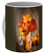 Autumn Leaves Still Life Coffee Mug by Amanda Elwell
