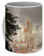 Autumn Leaves Winter Snow Coffee Mug