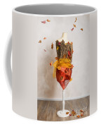 Autumn Mannequin With Falling Leaves Coffee Mug