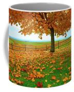 Autumn Maple Tree And Leaves Coffee Mug