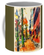 Autumn On The Streets Of Boston Coffee Mug