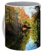 Autumn Park With Bridge Coffee Mug