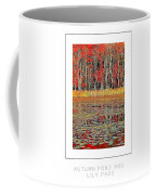 Autumn Pond And Lily Pads Poster Coffee Mug