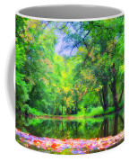 Autumn Pond In Gladwyne Coffee Mug by Bill Cannon
