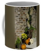 Autumn Porch Scene Coffee Mug