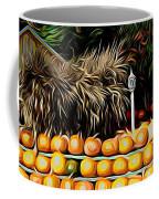 Autumn Pumpkins And Cornstalks Graphic Effect Coffee Mug