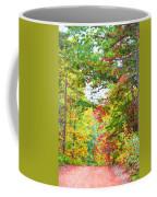 Autumn Road - Digital Paint Coffee Mug