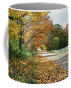 Autumn Road With Fence  Coffee Mug