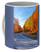 Autumn Scene With Road In Forest 2 Coffee Mug
