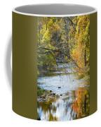Autumn Stream Reflections Coffee Mug