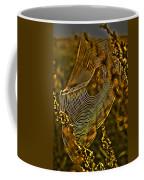 Autumn Sunrise With Spider Web Coffee Mug