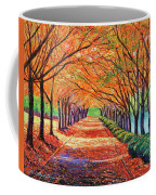Autumn Tree Lane Coffee Mug