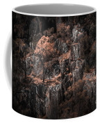 Autumn Trees Growing On Mountain Rocks Coffee Mug