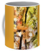 Autumn Trees In The Fog Coffee Mug