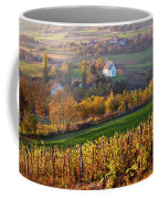 Autumn View Of Church On The Rural Hills Coffee Mug