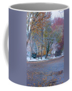 Autumn Winter Street Light Color Coffee Mug