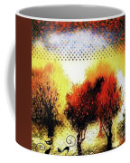 Autumn With Cat Focus Coffee Mug