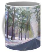 Avenue Of The Pines-winter Coffee Mug