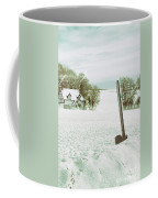 Axe In Snow Scene Coffee Mug