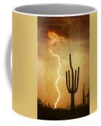Az Saguaro Lightning Storm V Coffee Mug