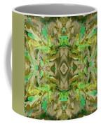 Aztec Kaleidoscope - Pattern 009 - Dark Olive Coffee Mug