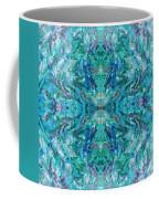 Aztec Kaleidoscope - Pattern 018 - Ocean Coffee Mug