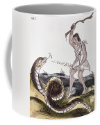 Aztec Killing A Serpent Coffee Mug