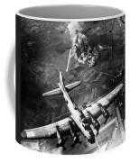 B-17 Bomber Over Germany  Coffee Mug by War Is Hell Store